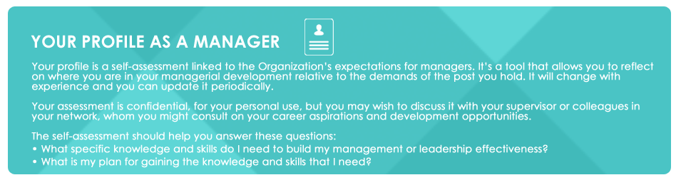 YOUR PROFILE AS A MANAGER | HR Portal
